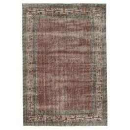 Hand-knotted Anatolian Red Antique Area Rug