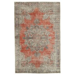 Hand-knotted Anatolian Red Rustic Area Rug