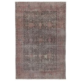 Hand-knotted Anatolian Pink Antique Vintage Rug