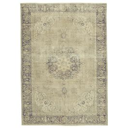 Hand-knotted Oriental Beige Faded Large Vintage Rug
