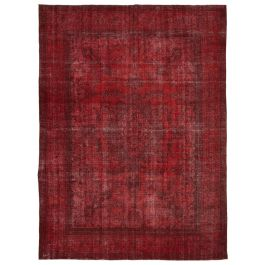 Hand-knotted Oriental Red Decorative Large Overdyed Rug