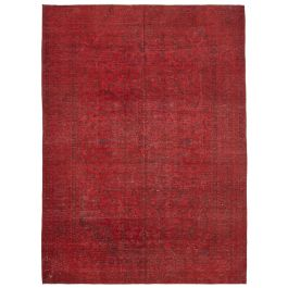 Handwoven Turkish Red Unique Large Colorful Rug