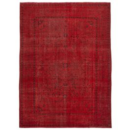 Hand-knotted Anatolian Red Antique Large Overdyed Rug