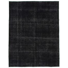 Handwoven Anatolian Black Antique Large Colorful Rug