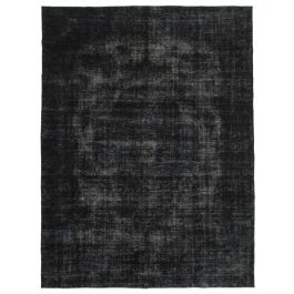Hand-knotted Oriental Black Faded Large Overdyed Rug