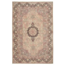 Hand-knotted Anatolian Beige Antique Large Vintage Rug