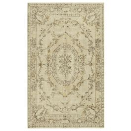 Hand-knotted Anatolian Beige Rustic Vintage Rug