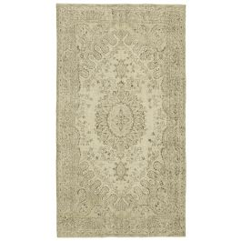 Hand-knotted Oriental Beige Faded Vintage Carpet
