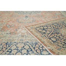 Hand-knotted Turkish Beige Contemporary Large Vintage Rug