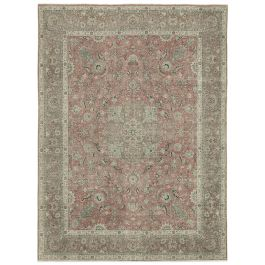 Handwoven Turkish Red Contemporary Large Vintage Rug