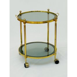 Brass and smoked glass trolley