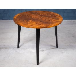 Round Coffee Table in Rosewood, Denmark, 1960s