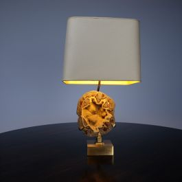 1960'S WILLY DARO RAW CITRINE TABLE LAMP
