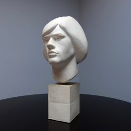 1970'S PLASTER BUST OF DUDE