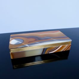 LARGE 1970'S AGATE BOX
