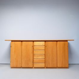 GOOD QUALITY 1970'S ELM SIDEBOARD