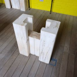 Pair Of 1960'S Arabascato Marble Table Bases