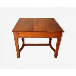 Solid antique extendable solid cherry table, 1920, Southern Italy