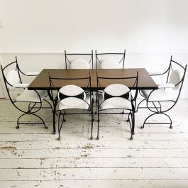 Dining Table and Chairs by Roger & Robert Thibier