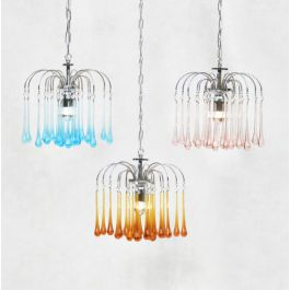Murano Glass Chandeliers by Paolo Venini C1960 Set of 3
