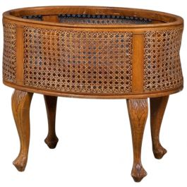Vintage French Cane Planter, 1940s