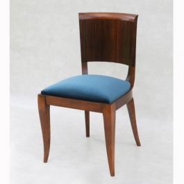 Set of Six Macassar Ebony Dining Chairs by Maison Dominique France c1930