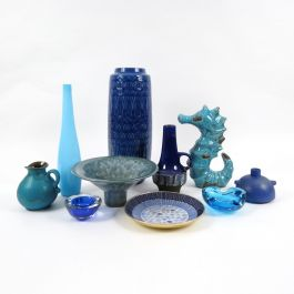 Vintage Glass and Ceramic Objects, 1960s, Set of 10