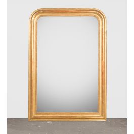 Gold Red Louis Philippe Mirror