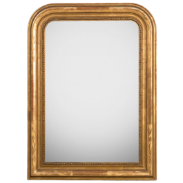 Small Mirror with Flower Etchings
