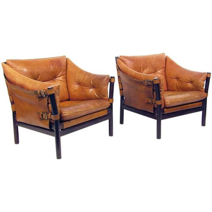 Tan Leather By Arne Norell, Arne Norell Ilona Chair